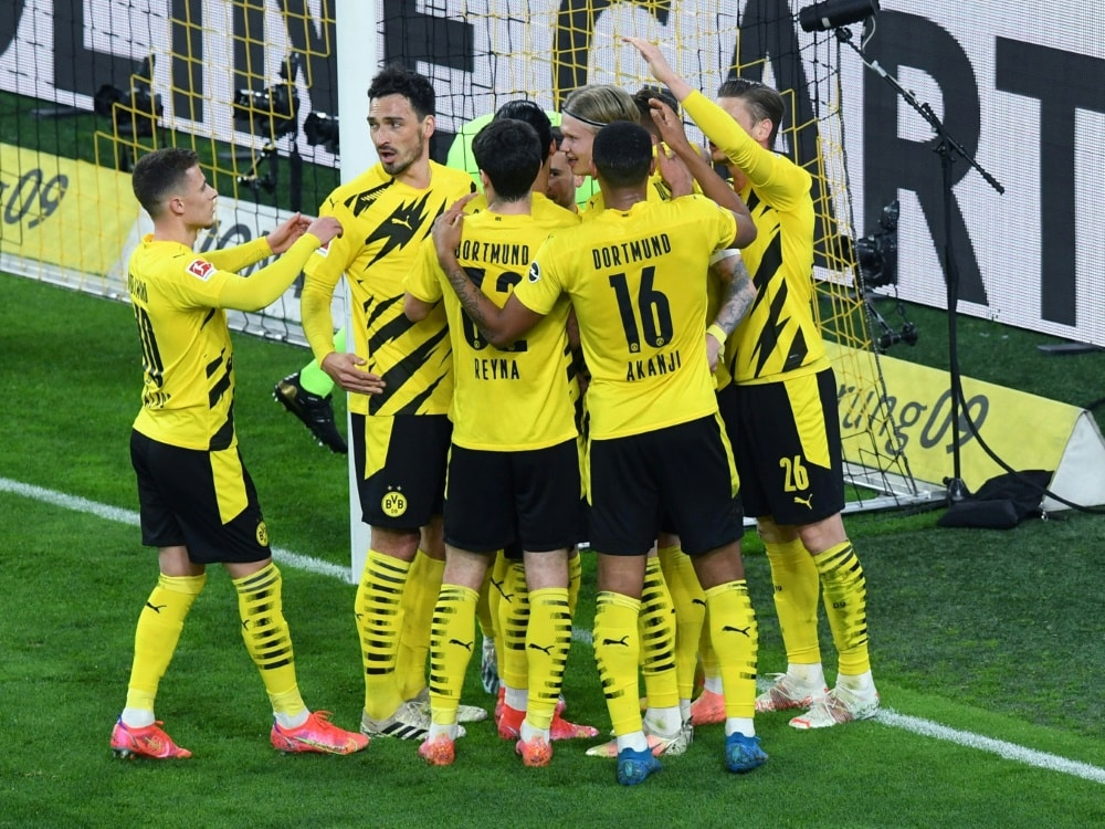 Wichtiger BVB-Sieg im Kampf um die Champions League. ©FIRORoy Gilbert / Revierfoto / Pool/VIAFIROSPORTPHOTO/SID