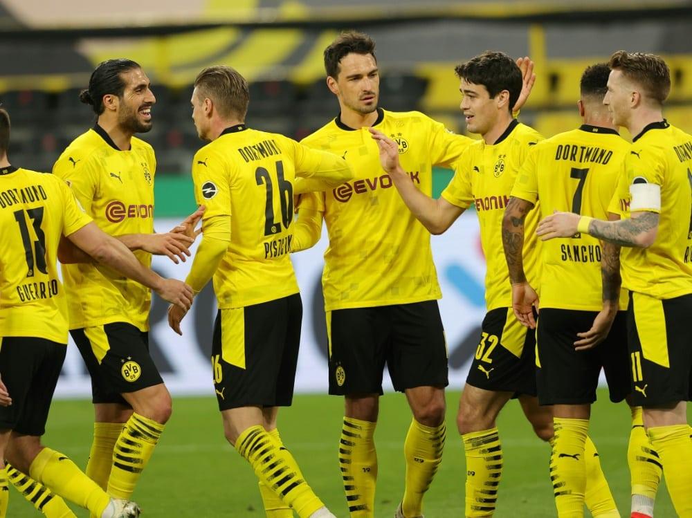 Borussia Dortmund trifft im Finale auf RB Leipzig. ©FIRO/SID