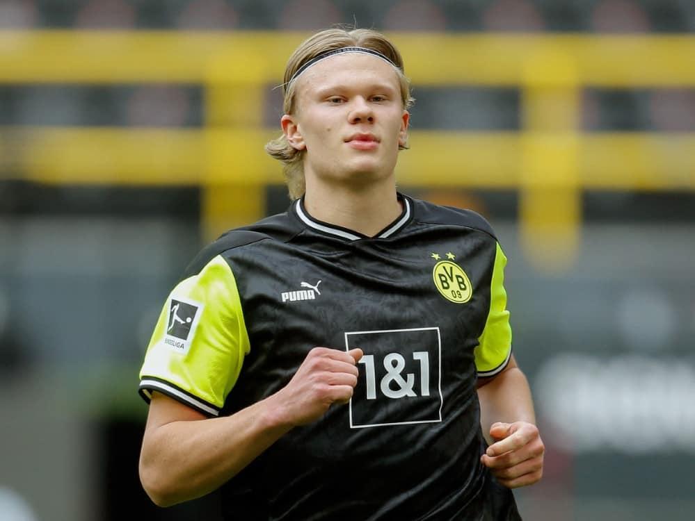 Erling Haaland kann im Pokal-Finale wohl spielen. ©SID LEON KUEGELER