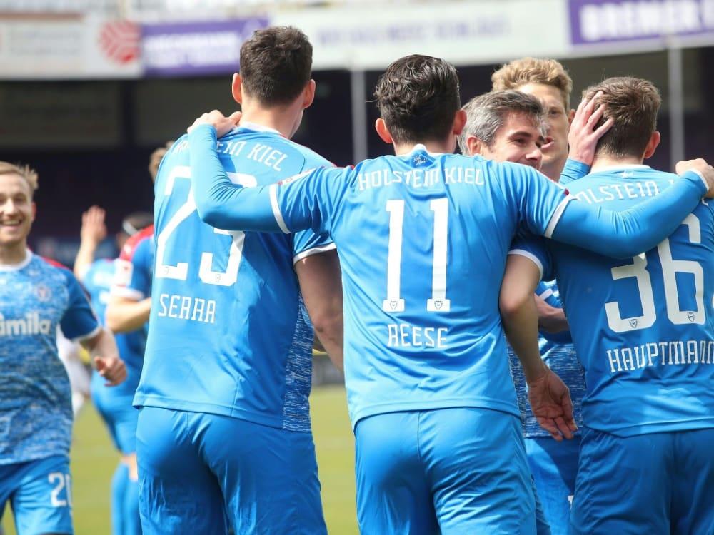 Holstein Kiel hat den nächsten Dreier eingefahren. ©firo Sportphoto/SID firo Sportphoto/JŸrgen Fromme