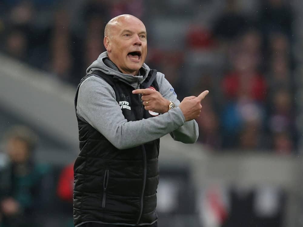 Dramatischer Sieg für die Mannschaft von Uwe Rösler. ©FIRO/SID