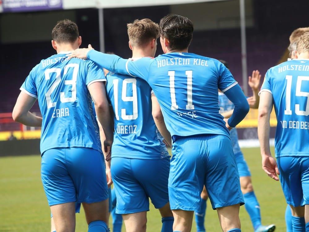 Holstein Kiel jubelt auch gegen Sandhausen. ©FIRO/SID firo Sportphoto/JŸrgen Fromme
