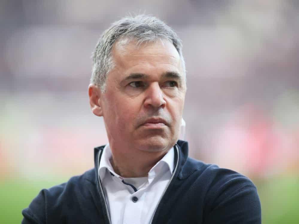 Andreas Rettig spricht sich für Rudi Völler aus. ©FIRO/SID