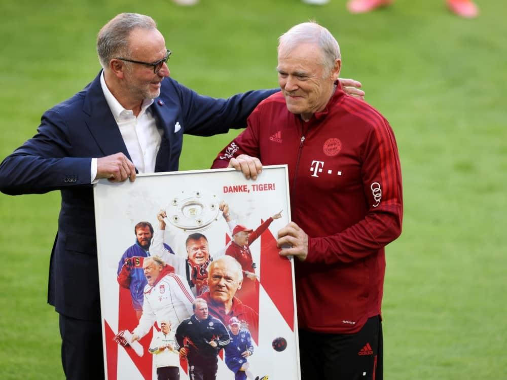 Gerland (r.) verlässt den FCB nach über 20 Jahren. ©FIRO/SID