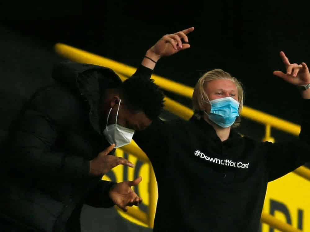 Dortmund hofft auf die Rückkehr von Erling Haaland. ©POOL/SID LEON KUEGELER