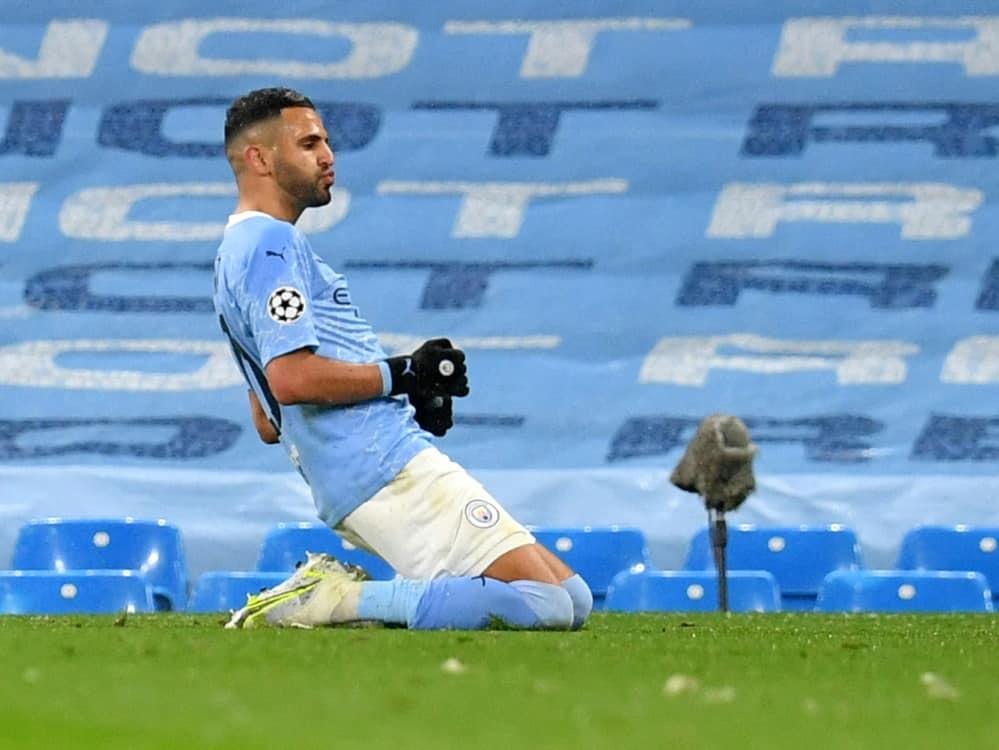 Riyad Mahrez schießt Manchester City ins Finale. ©SID PAUL ELLIS
