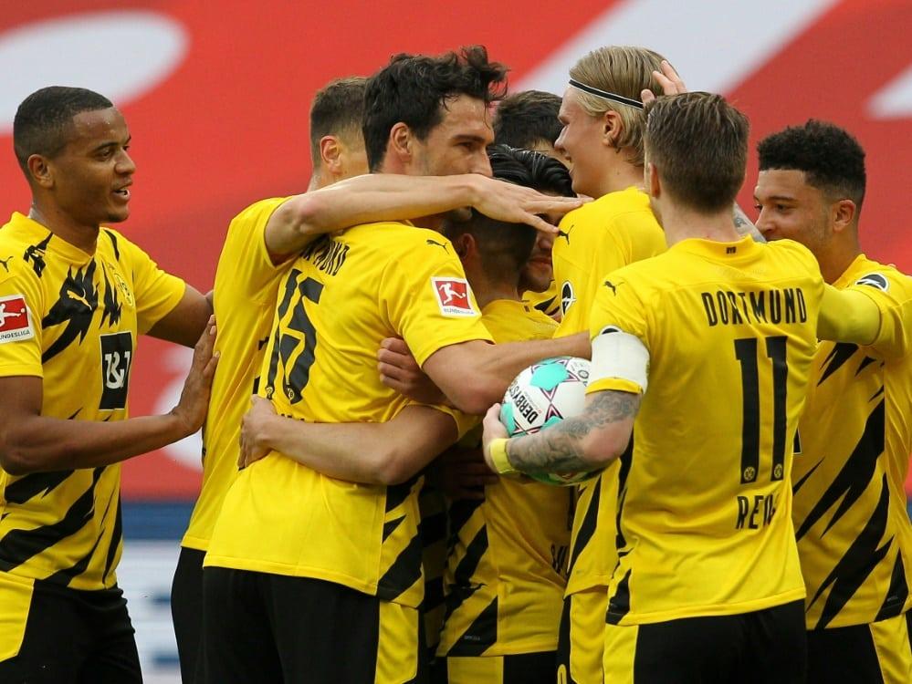 Der BVB hat nach dem Sieg die Champions League sicher. ©SID DANIEL ROLAND