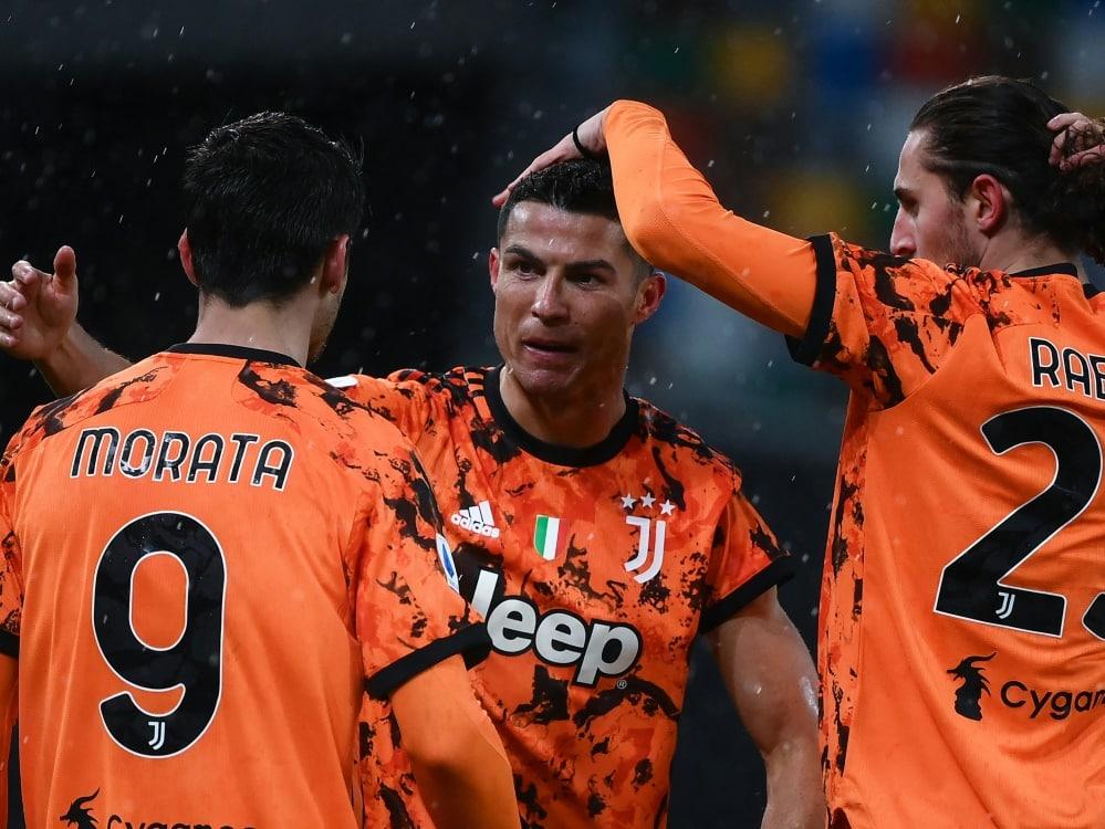 Cristiano Ronaldo brachte Juventus Turin den späten Sieg. ©SID MARCO BERTORELLO