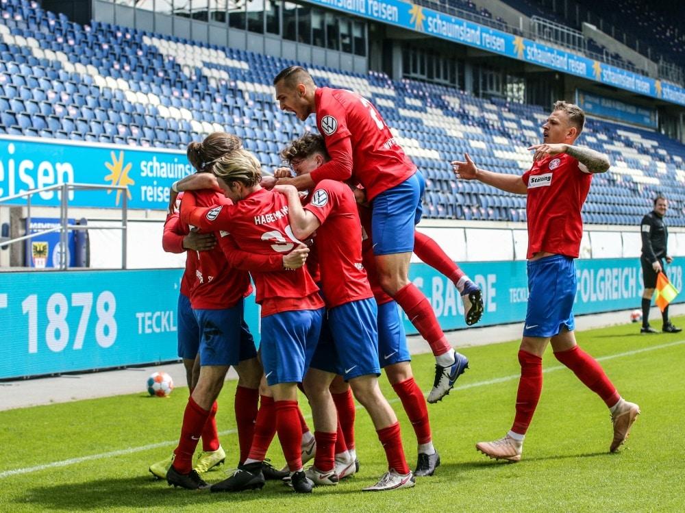 Der Wuppertaler SV gewinnt den Niederrheinpokal. ©Herbertz / FVN/Herbertz / FVN Nico Herbertz / Herbertz / FVN