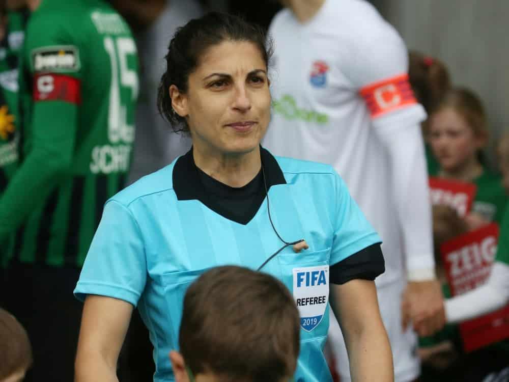 Riem Hussein leitet Champions-League-Finale der Frauen. ©FIRO/SID