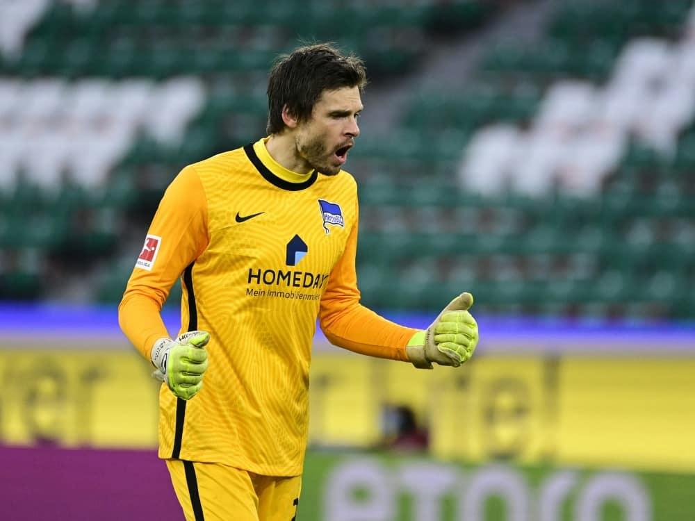 Jarstein bleibt bis 2023 bei Hertha BSC. ©SID TOBIAS SCHWARZ