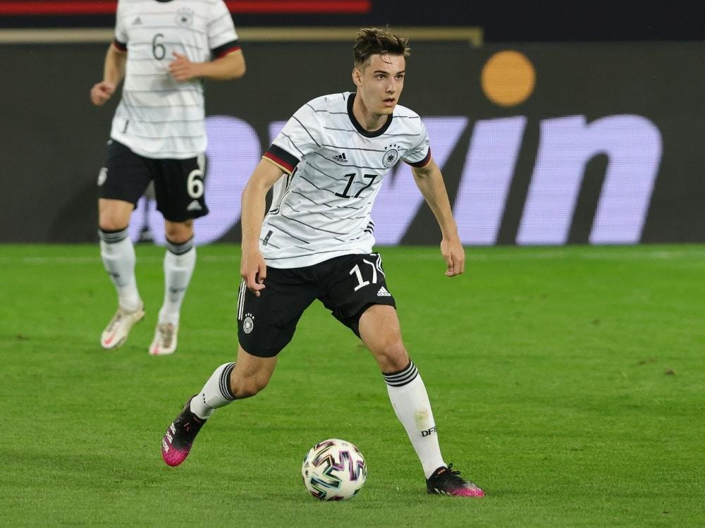 Florian Neuhaus überzeugte im Spiel gegen Dänemark. ©FIRO/SID