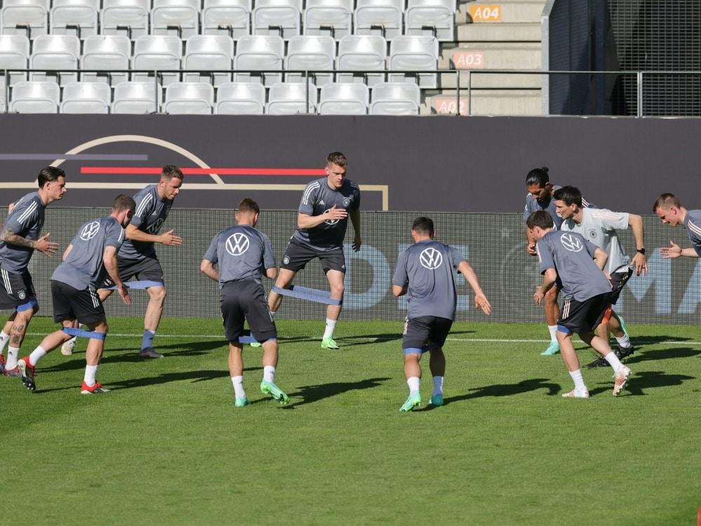Das DFB-Team trainiert in Herzogenaurach. ©FIRO/SID