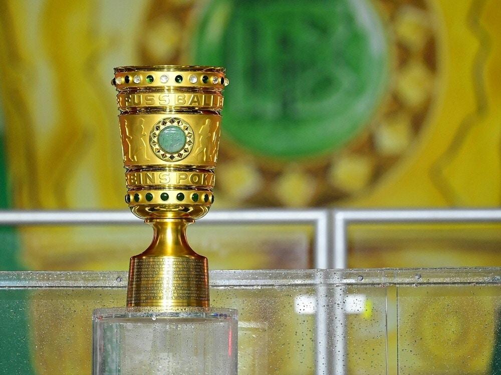 Regionalligist SpVgg Bayreuth im DFB-Pokal dabei. ©FIRO/SID