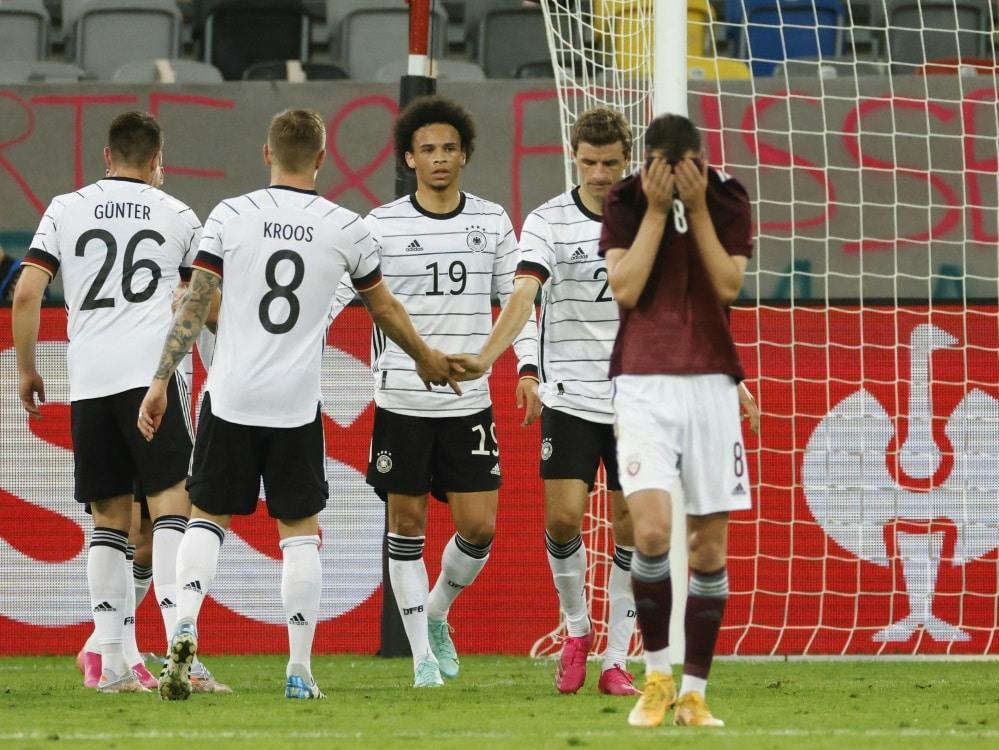 Deutschland gewinnt gegen Lettland mit 7:1. ©SID ODD ANDERSEN