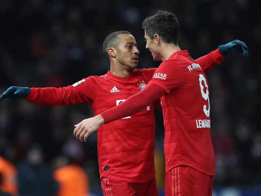 Thiago schwärmt vor Polen-Spiel von Robert Lewandowski. ©FIRO/SID