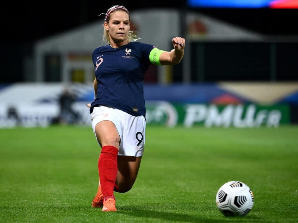 Eugenie Le Sommer wird UEFA-Botschafterin für Kinder. ©SID FRANCK FIFE