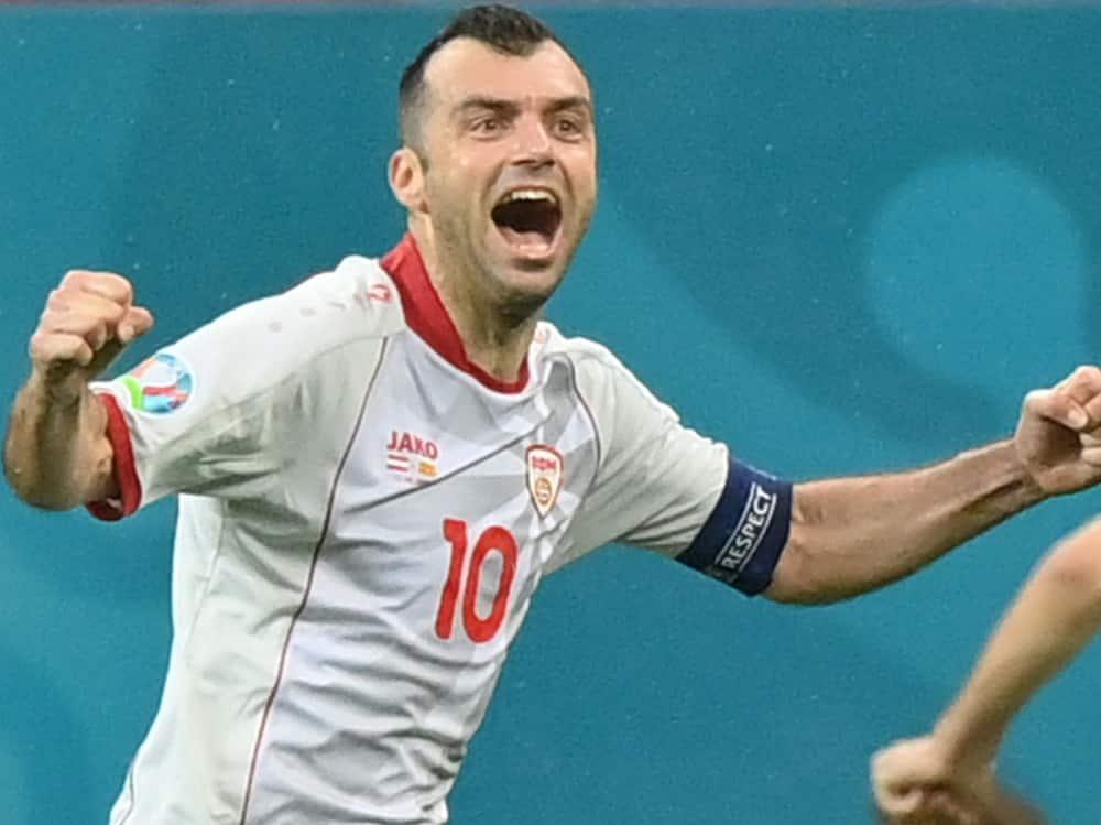 Goran Pandev erzielte gegen Österreich einen Treffer . ©SID JUSTIN SETTERFIELD
