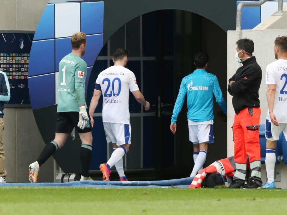 Klaas-Jan Huntelaar und Sead Kolasinac verlassen Schalke. ©firo Sportphoto/SID