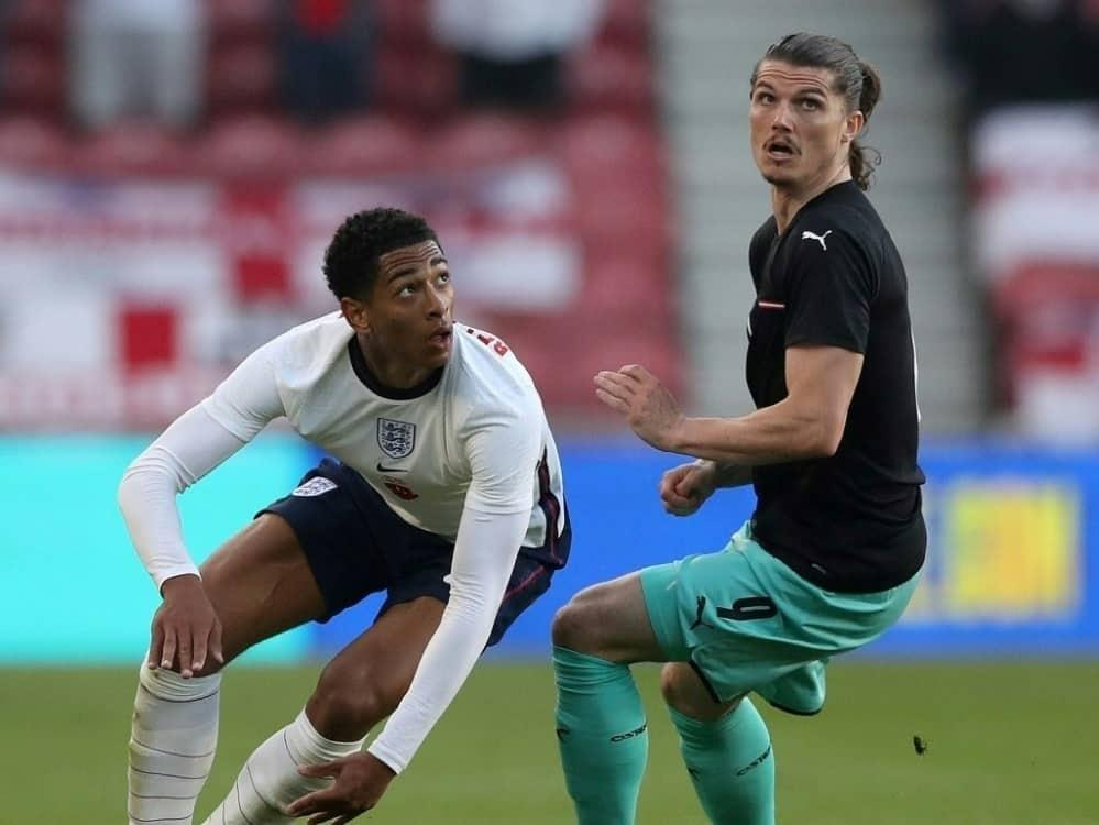 Bellingham und England schlagen Österreich mit 1:0. ©SID SCOTT HEPPELL