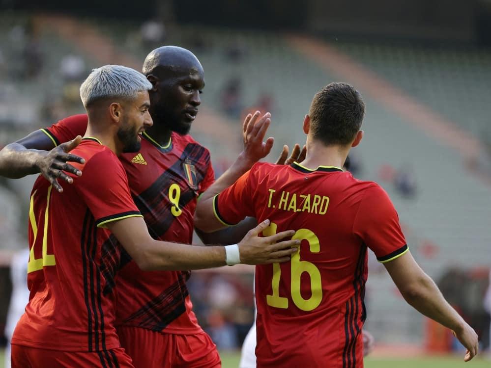 Belgien spielt gegen Griechenland nur 1:1. ©SID KENZO TRIBOUILLARD