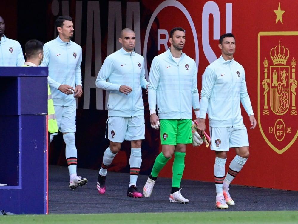 Portugal droht wohl kurz vor EM-Start eine Quarantäne. ©SID JAVIER SORIANO