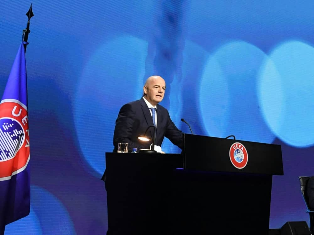 Die UEFA setzt das Verfahren gegen Super-League-Trio aus. ©SID RICHARD JUILLIART
