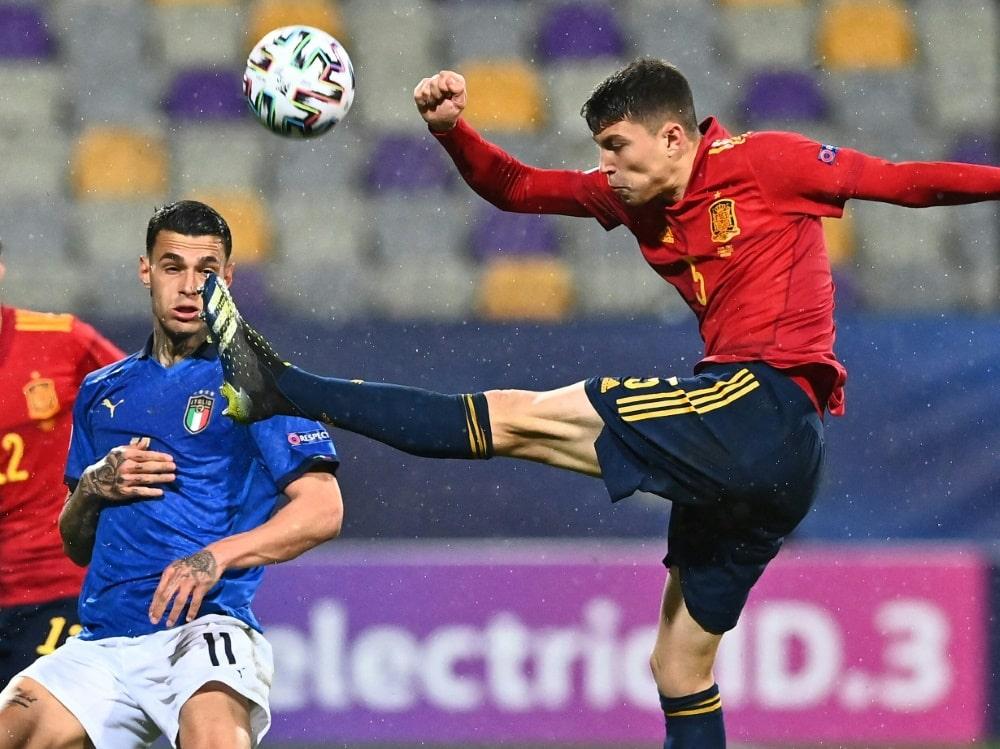 Dank Jorge Cuenca sind die Portugiesen im Endspiel. ©SID JOE KLAMAR
