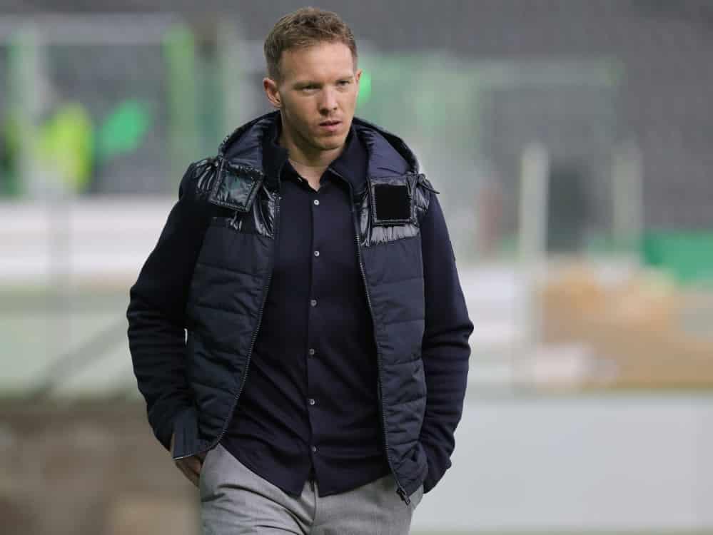 RTL überträgt ersten Härtetest für Julian Nagelsmann. ©FIRO/SID
