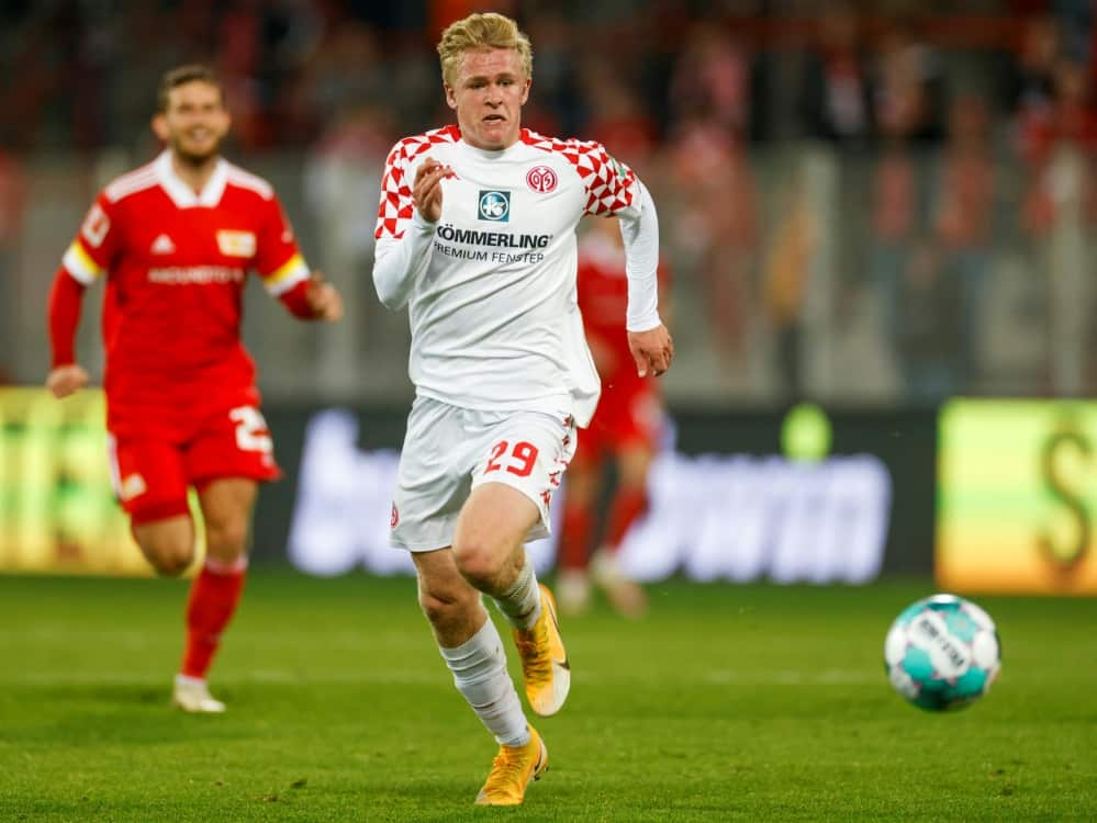 Jonathan Burkardt bleibt Mainzer. ©SID ODD ANDERSEN