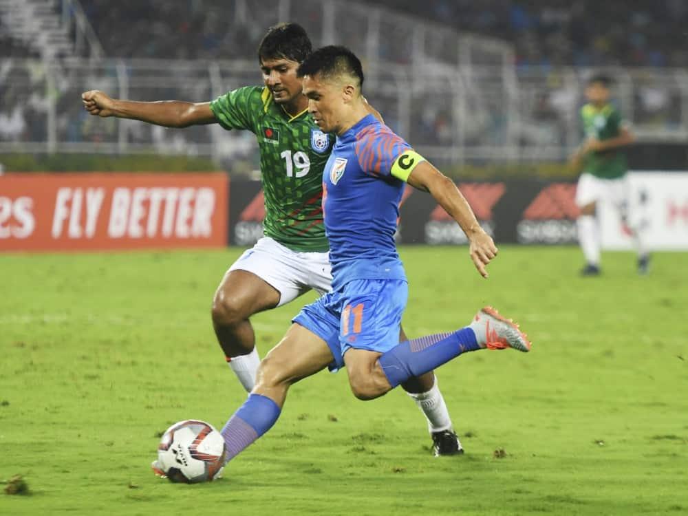 Sunil Chhetri hat 74 Länderspieltore für Indien erzielt. ©SID DIBYANGSHU SARKAR