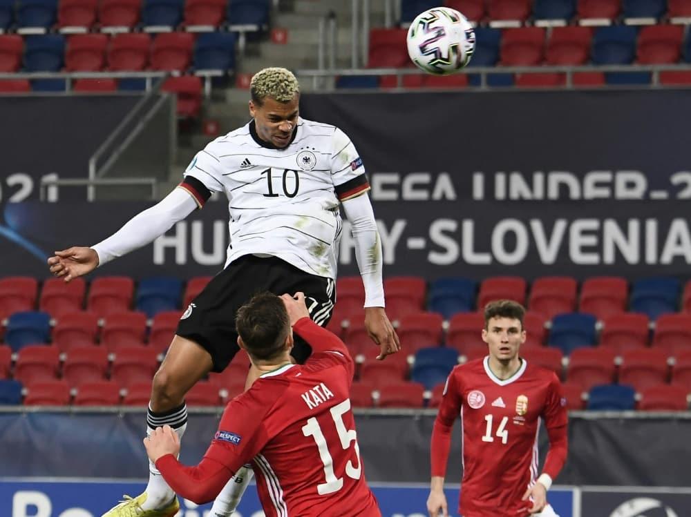 Viermal war Lukas Nmecha bei der U21-EM erfolgreich. ©SID ATTILA KISBENEDEK