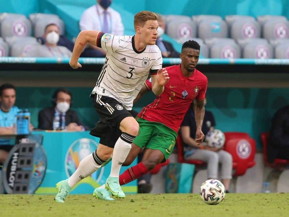 Halstenberg feierte gegen Portugal seine EM-Premiere. ©FIRO/SID