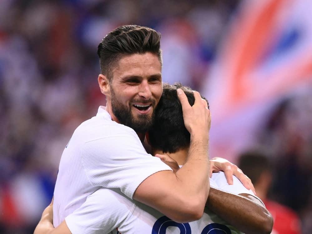 Frankreichs Giroud traf doppelt gegen Bulgarien. ©SID FRANCK FIFE
