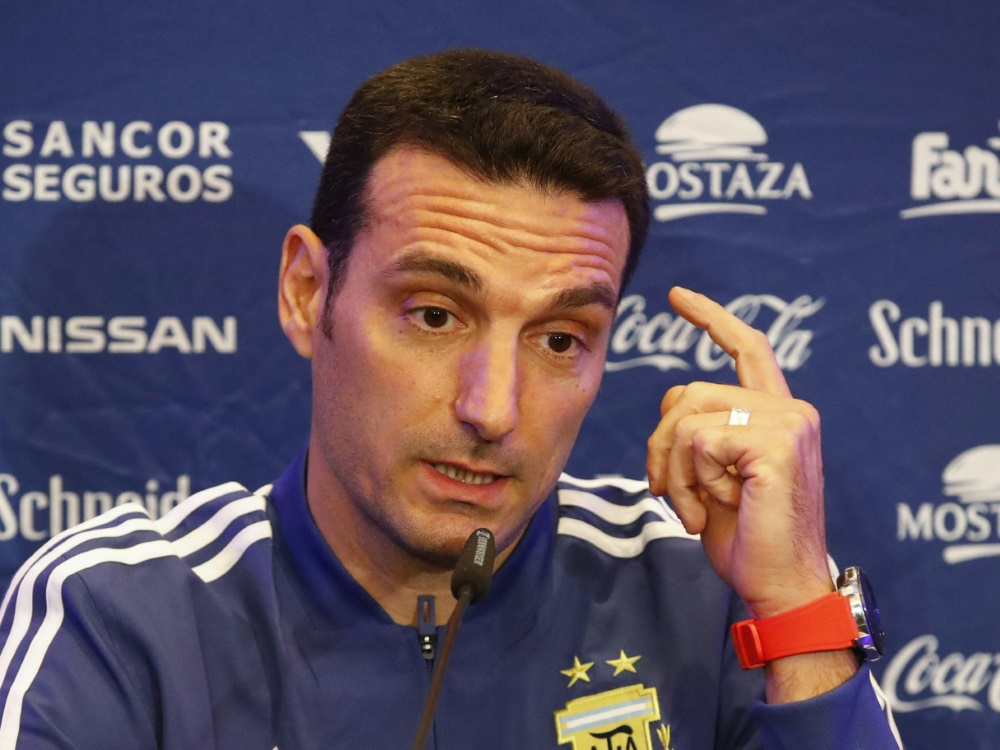 Skeptisch: Argentiniens Nationaltrainer Lionel Scaloni. ©SID JACK GUEZ