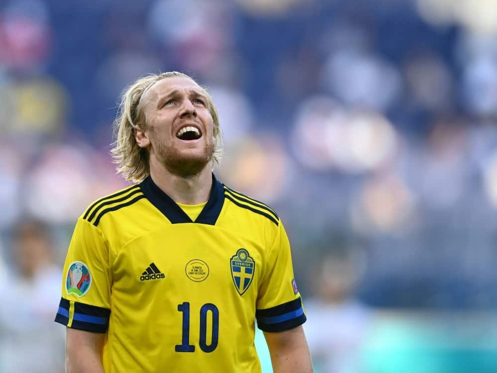 Emil Forsberg erzielt den Siegtreffer für Schweden. ©SID Kirill KUDRYAVTSEV