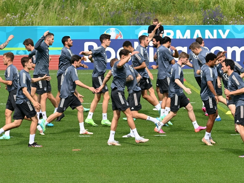 Am Dienstag startet die DFB-Auswahl in die EM. ©SID CHRISTOF STACHE