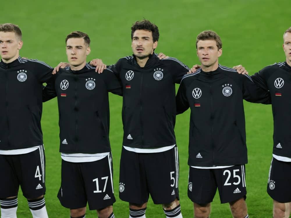 DFB-Team darf sich gegen Lettland auf Zuschauer freuen. ©FIRO/SID