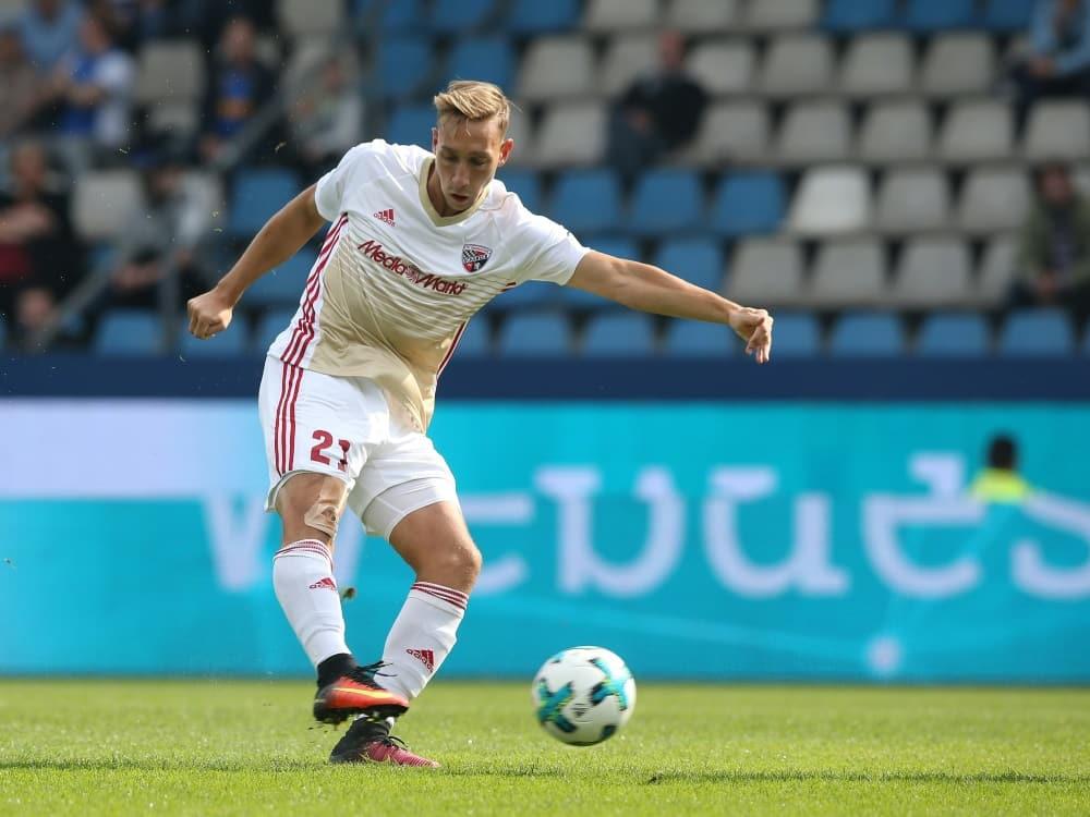 Tobias Schröck bleibt langfristig in Ingolstadt. ©FIRO/SID