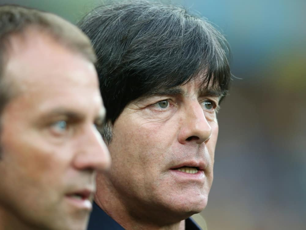 Joachim Löw hält Hansi Flick für einen guten Nachfolger. ©FIRO/SID