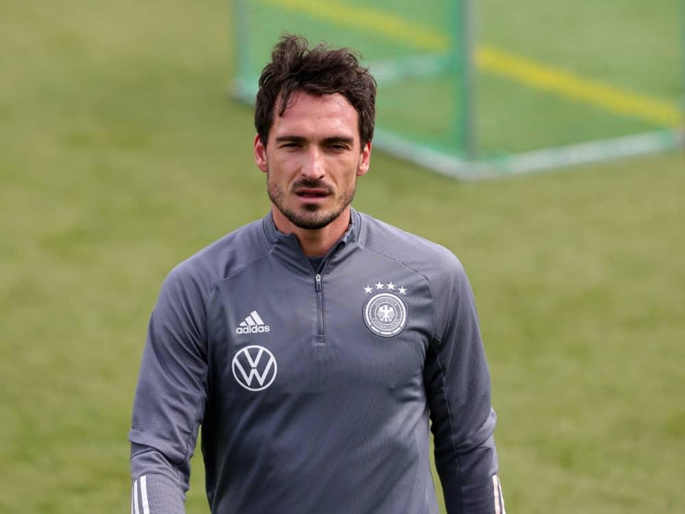 Mats Hummels fehlt beim Training des DFB-Teams. ©FIRO/SID