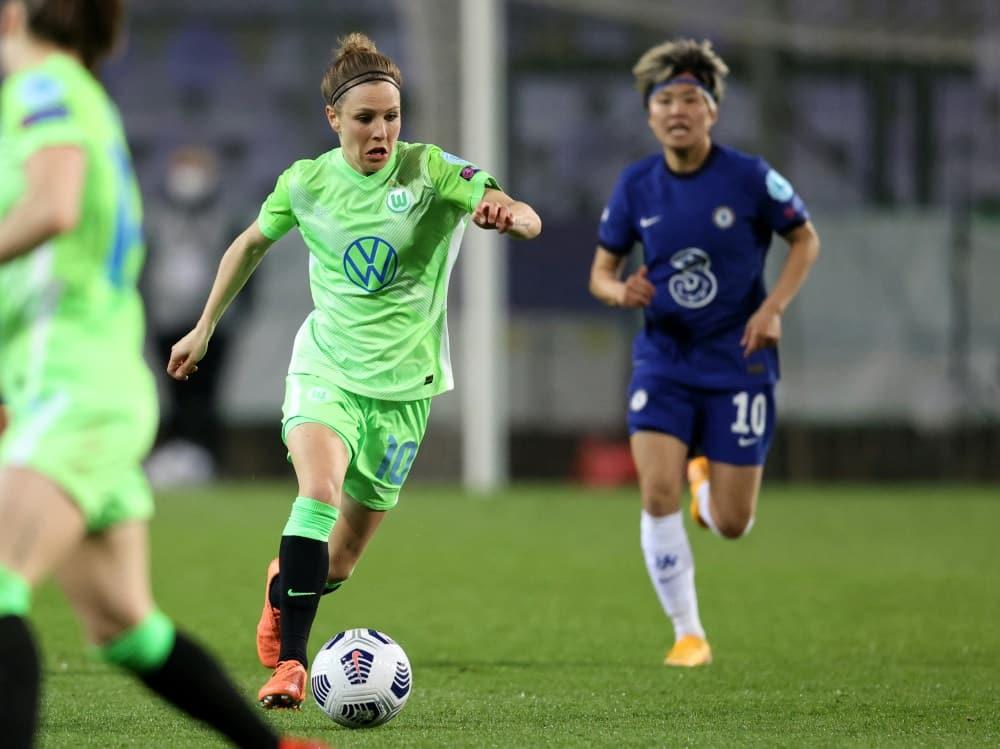Svenja Huth verlängert bei Wolfsburg um zwei Jahre. ©SID ISTVAN HUSZTI