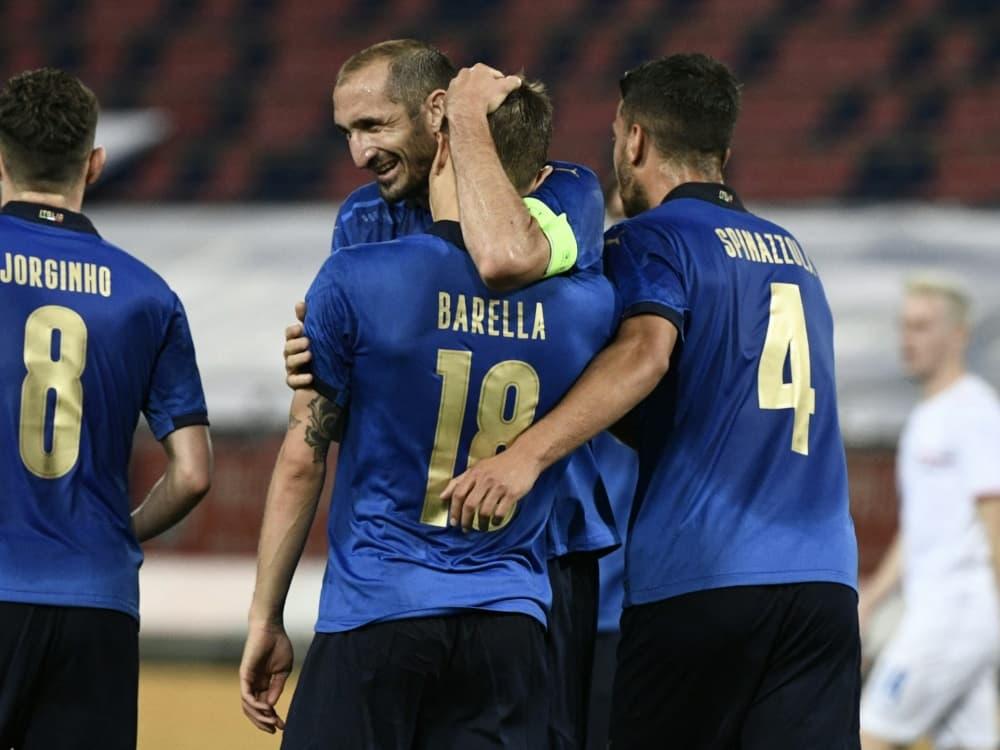 Italien zeigt sich schon vor dem Start in EM-Form. ©SID FILIPPO MONTEFORTE