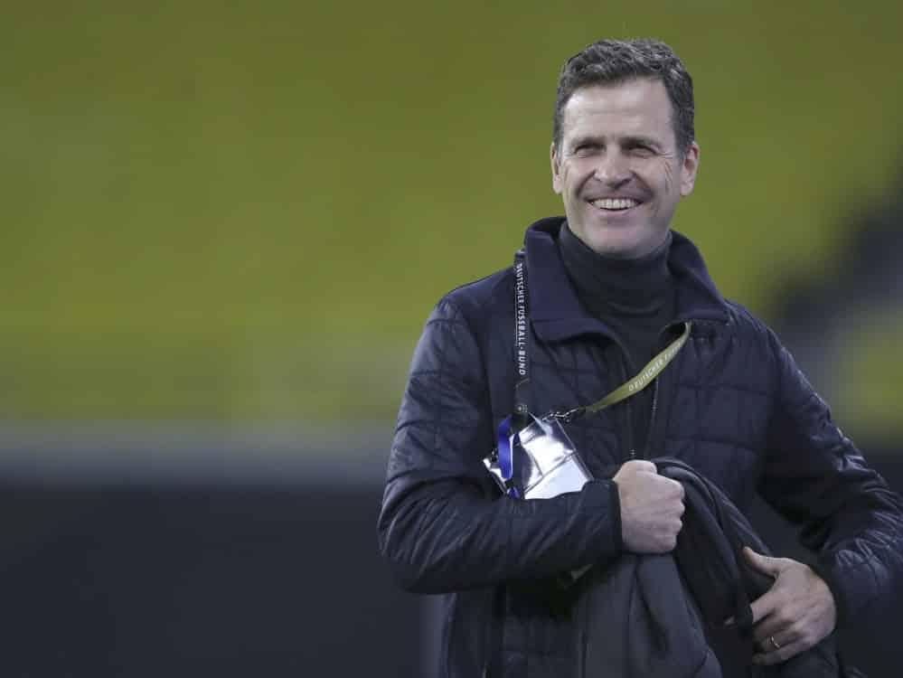 Bierhoff und DFB-Team fieberten mit U21 mit. ©SID RONNY HARTMANN