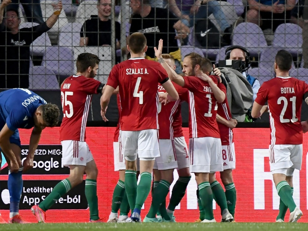 Knapper Erfolg über Zypern für DFB-Gegner Ungarn. ©SID ATTILA KISBENEDEK