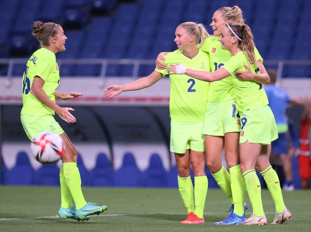 Die Schwedinnen siegen mit einem 4:2 gegen Australien. ©SID AYAKA NAITO
