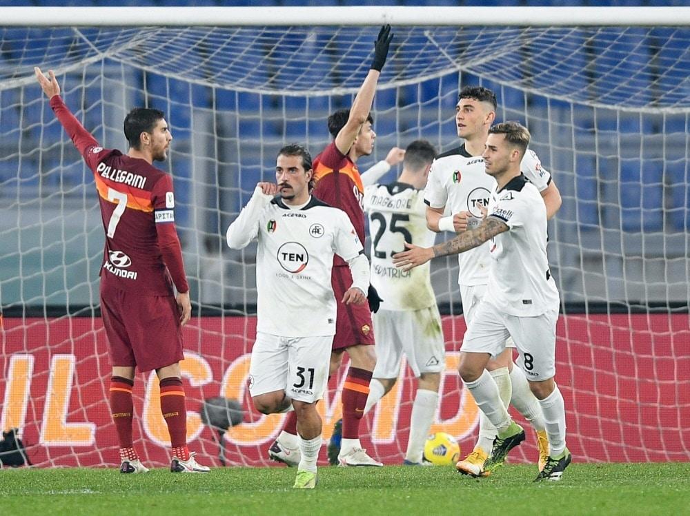 Italien: Weitere Coronafälle bei Spezia Calcio. ©FIRO/SID