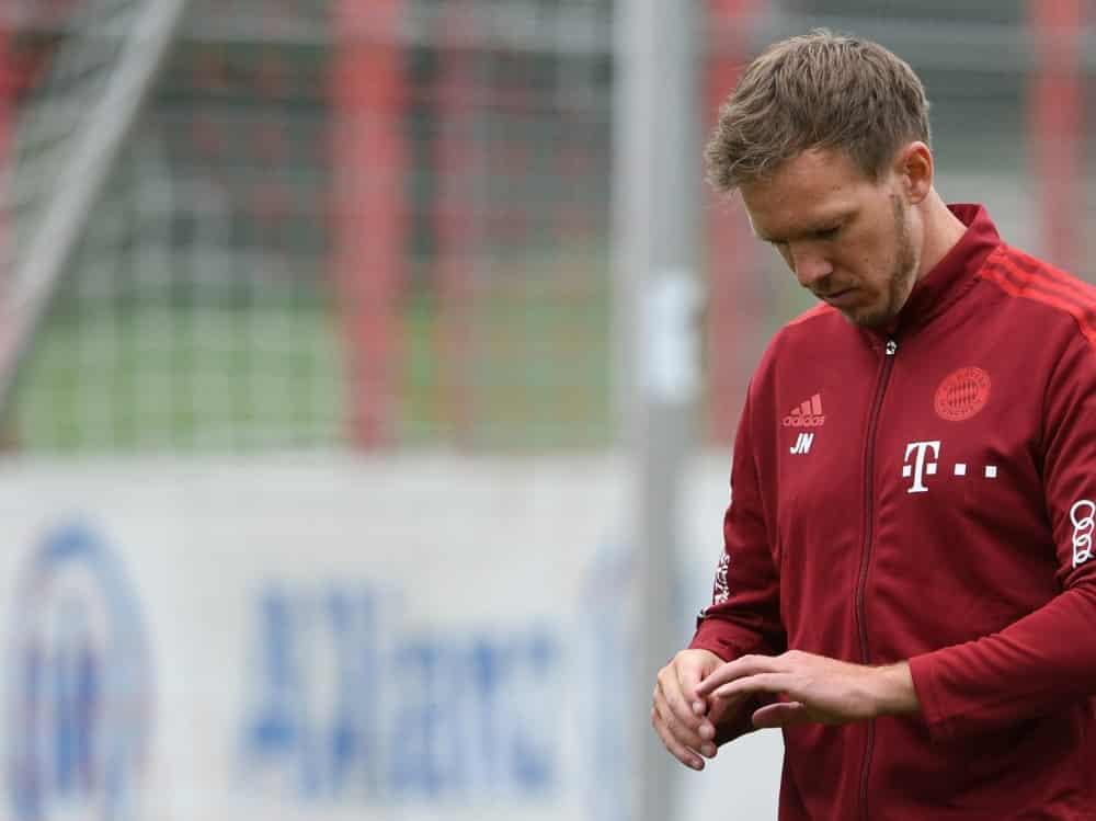 Julian Nagelsmann und Bayern unterliegen Köln. ©SID CHRISTOF STACHE