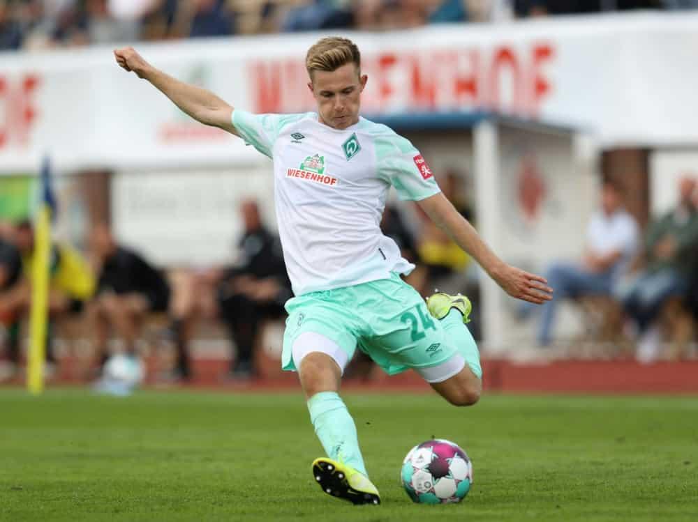 Johannes Eggestein verlässt Bremen in Richtung Antwerpen. ©FIRO/SID