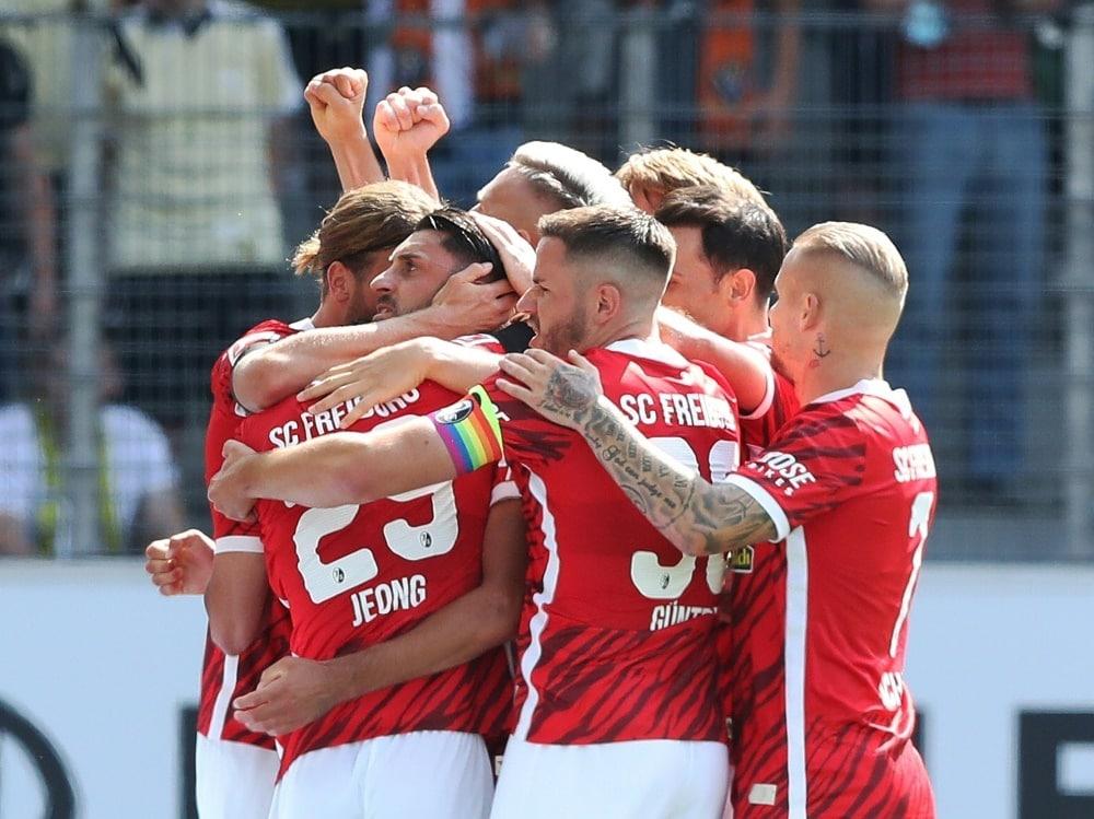 Der SC Freiburg gewann zuletzt gegen Borussia Dortmund. ©FIRO/SID